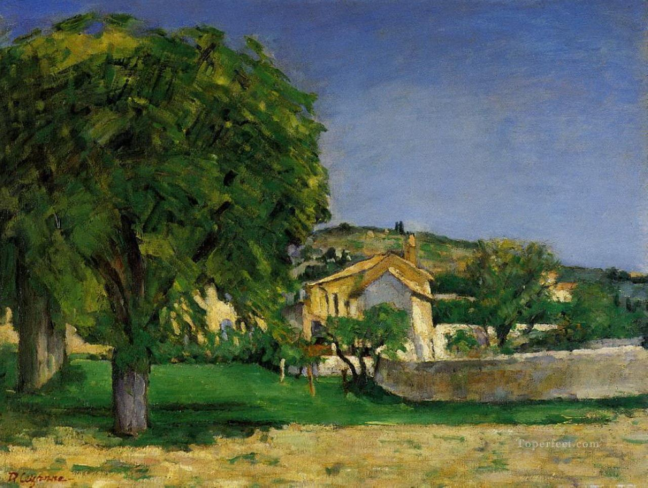 Chestnut Trees and Farmstead of Jas de Bouffin Paul Cezanne Oil Paintings