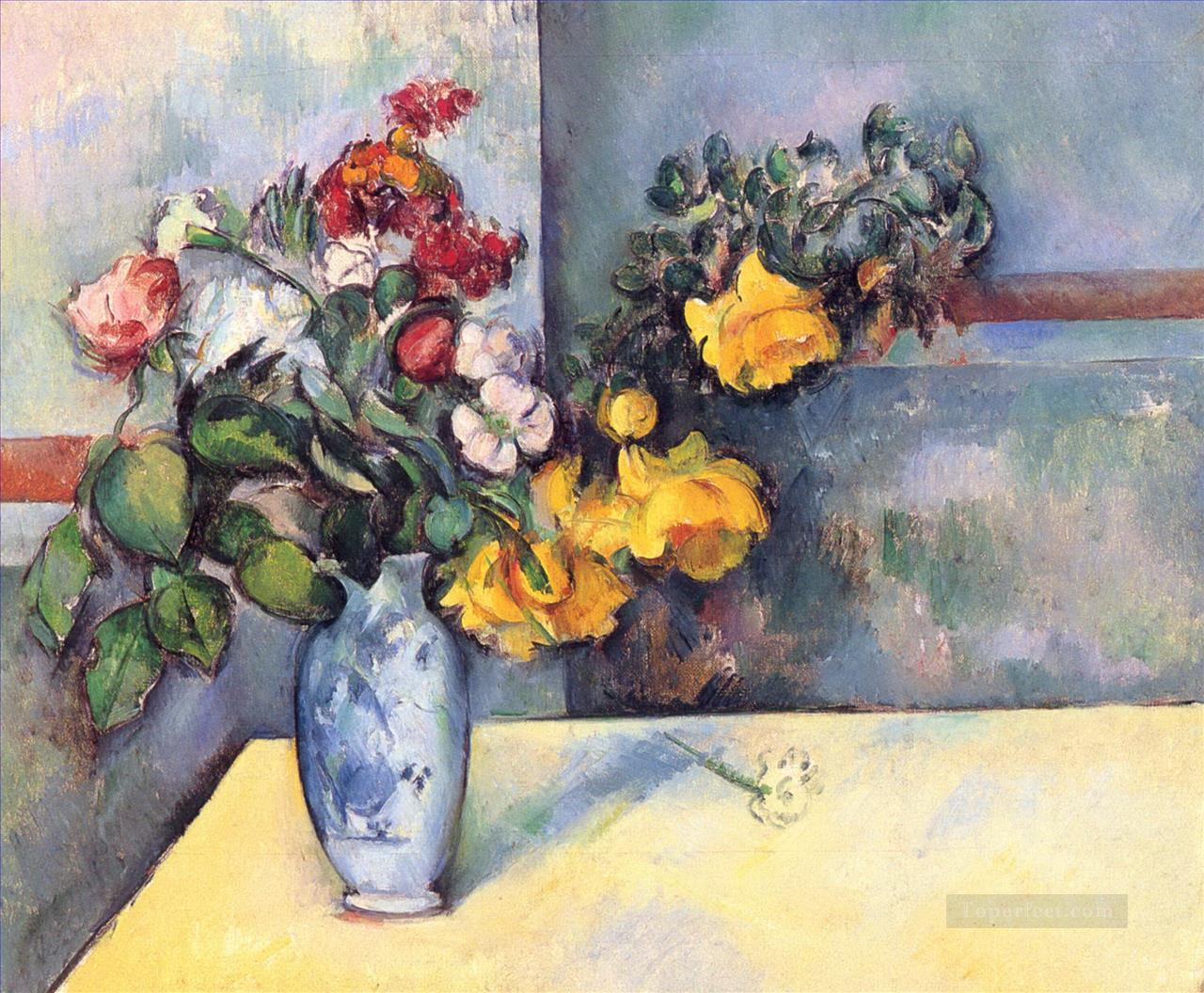 Still Life Flowers in a Vase Paul Cezanne Oil Paintings