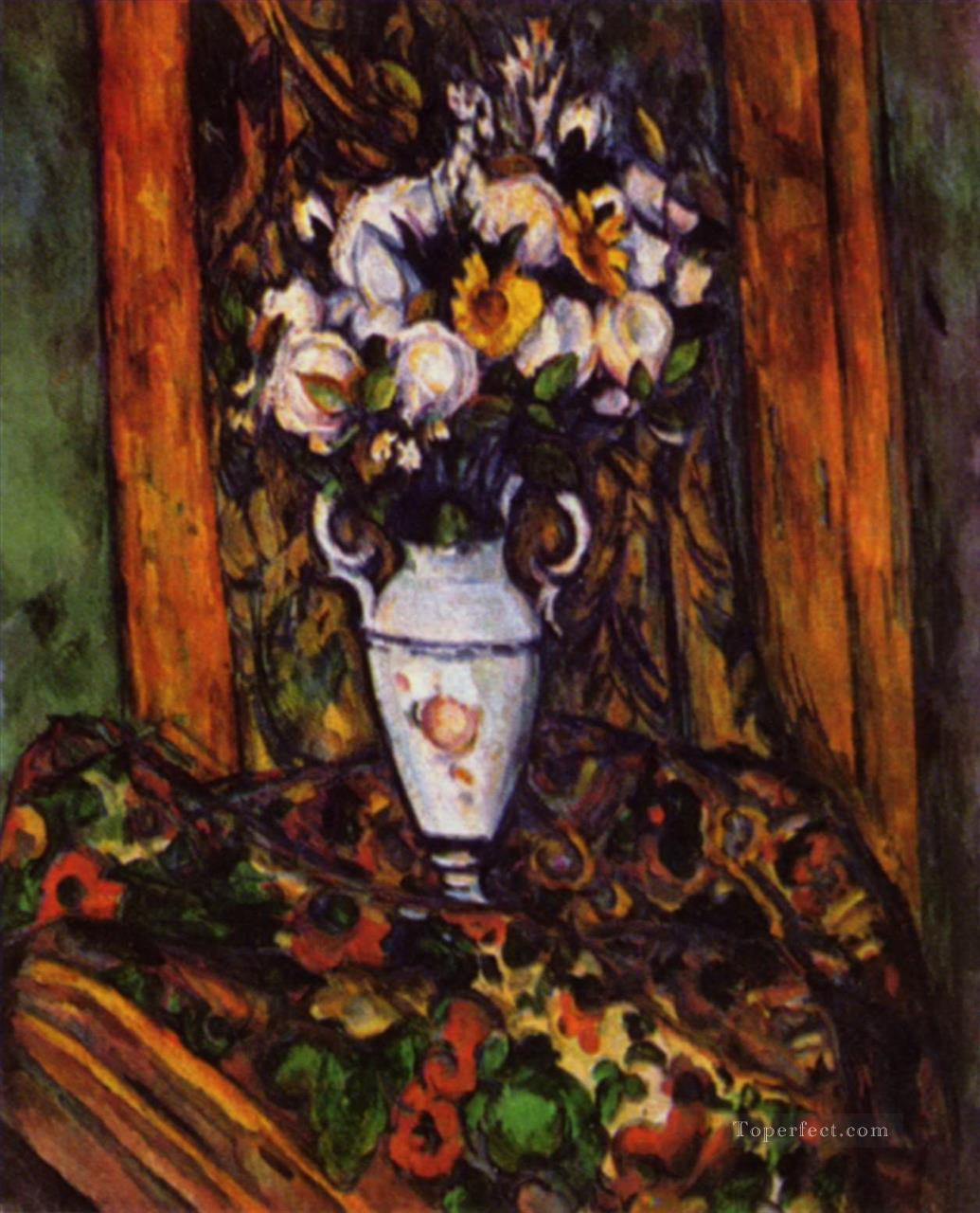 Still Life Vase with Flowers Paul Cezanne Oil Paintings