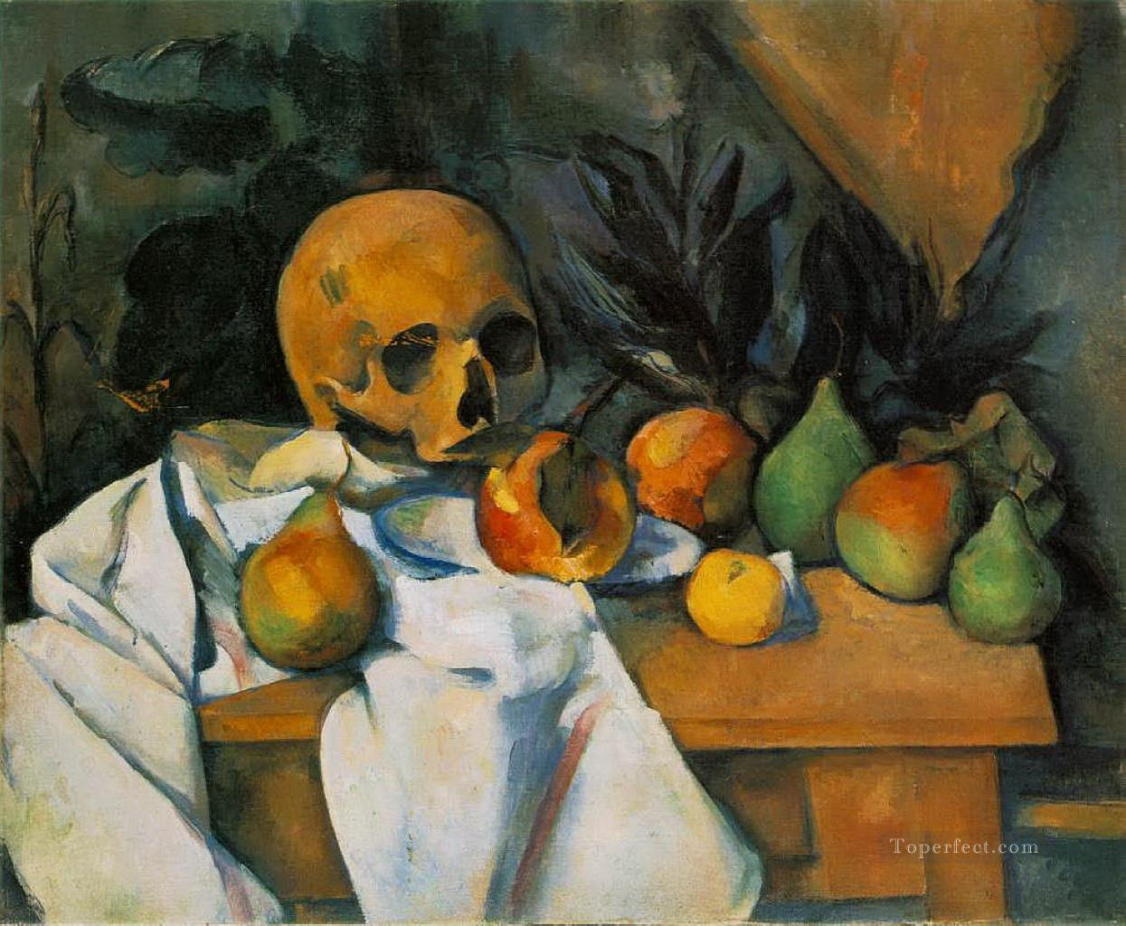 Still Life with Skull Paul Cezanne Oil Paintings