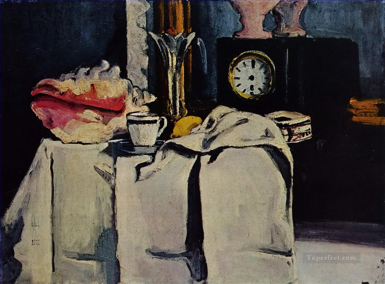 The Black Marble Clock Paul Cezanne Oil Paintings