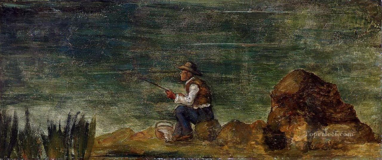 Fisherman on the Rocks Paul Cezanne Oil Paintings