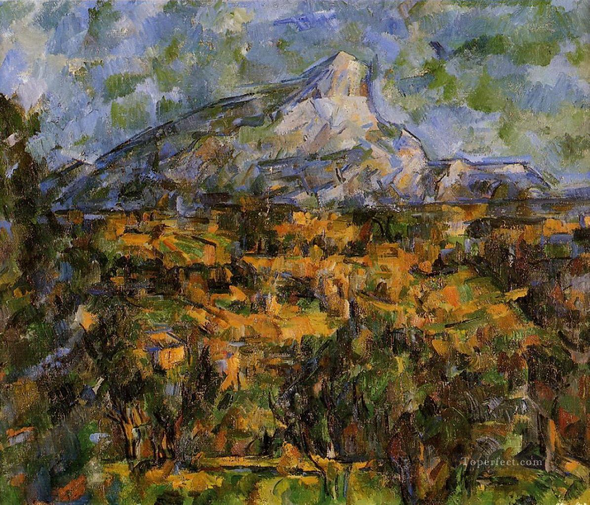 Mont Sainte Victoire Seen from les Lauves Paul Cezanne Oil Paintings
