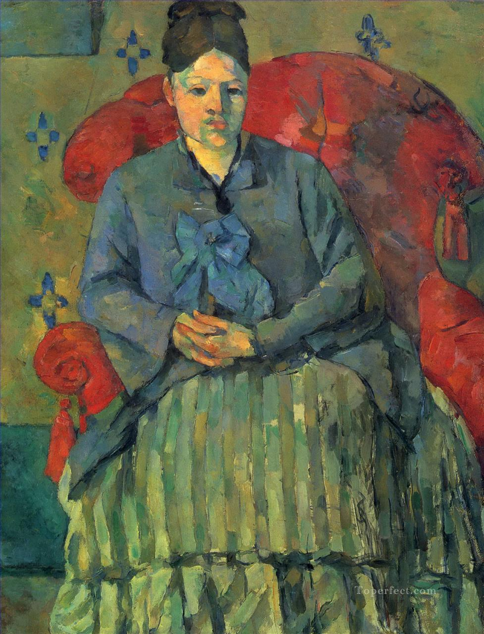Portrait of Madame Cezanne 3 Paul Cezanne Oil Paintings