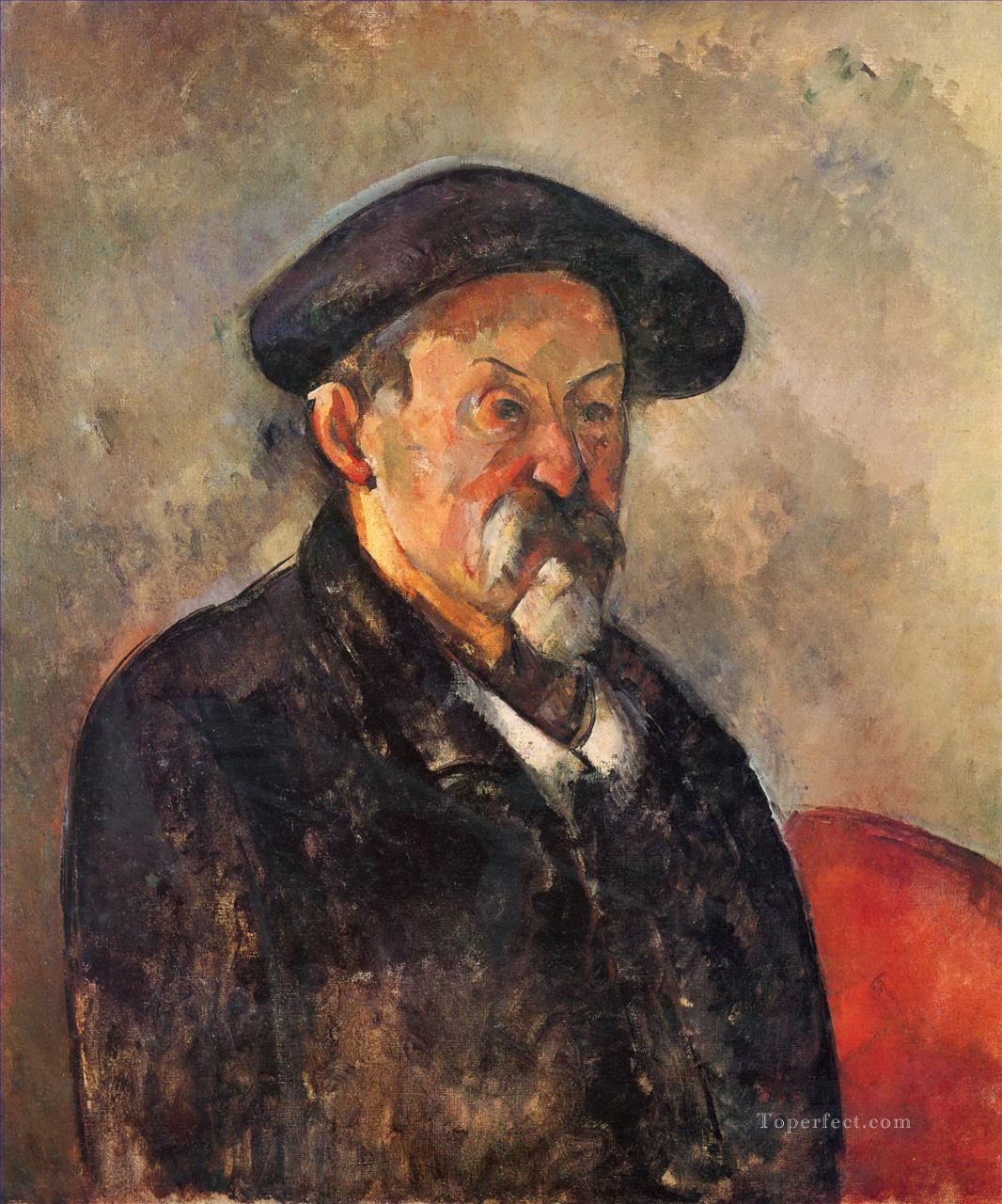 Self Portrait with Beret Paul Cezanne Oil Paintings