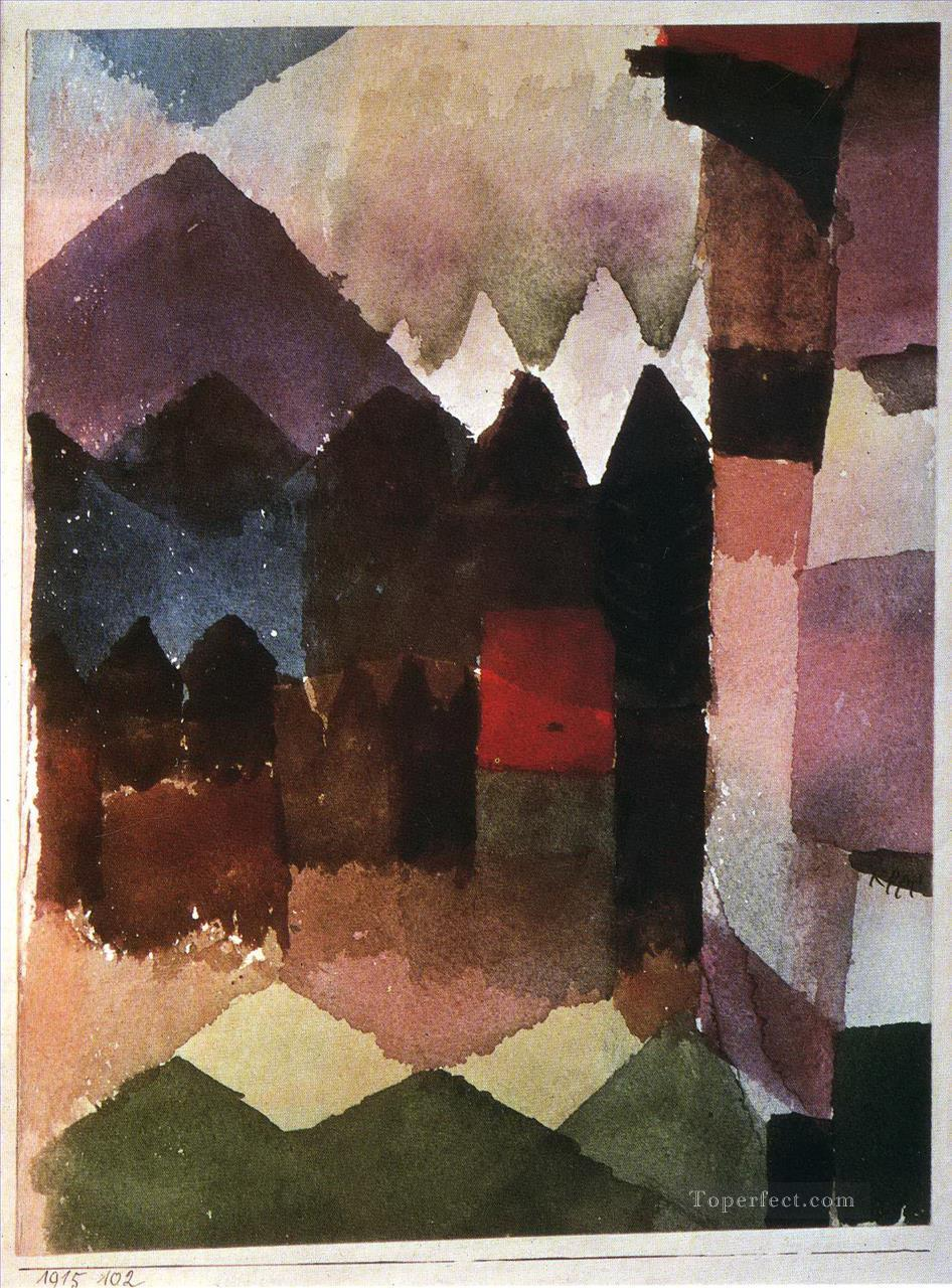 Foehn Wind in Marc Garden Paul Klee Oil Paintings