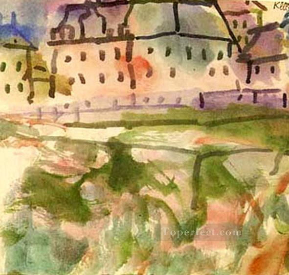 Houses near the Gravel Pit Paul Klee Oil Paintings