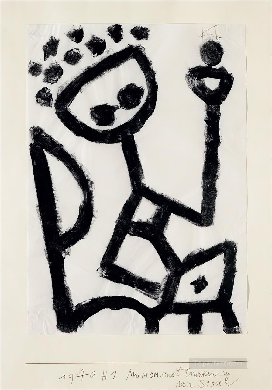 Mumon drunk falls into the chair Paul Klee Oil Paintings