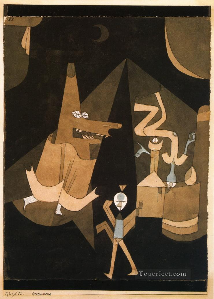 Witch scene Paul Klee Oil Paintings