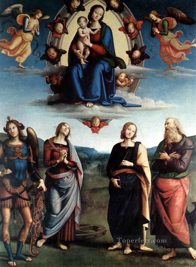 Madonna in Glory with the Child and Saints Renaissance Pietro Perugino Oil Paintings