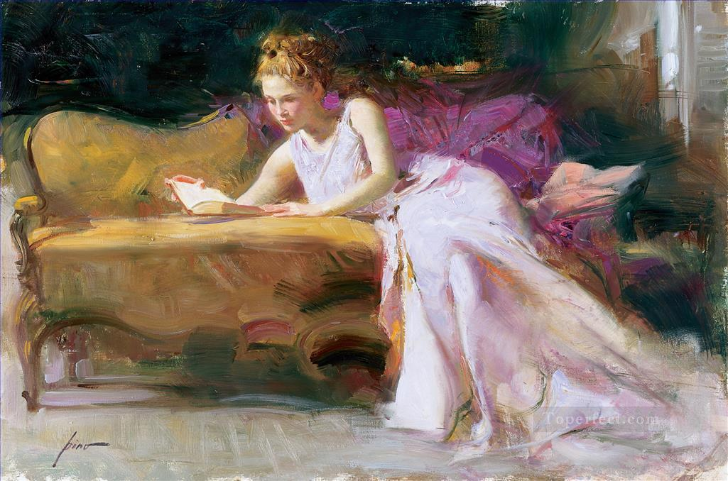Pino Daeni lady Oil Paintings