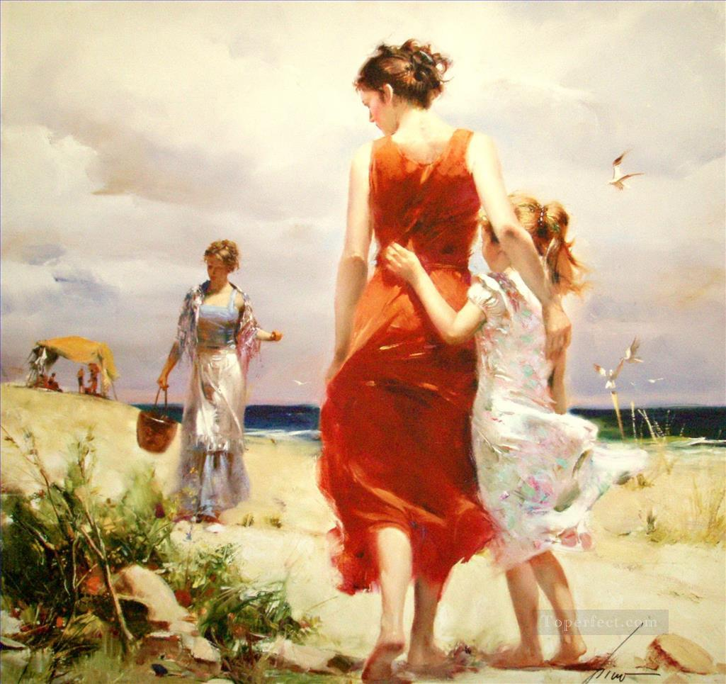 Pino Daeni breezy day Oil Paintings
