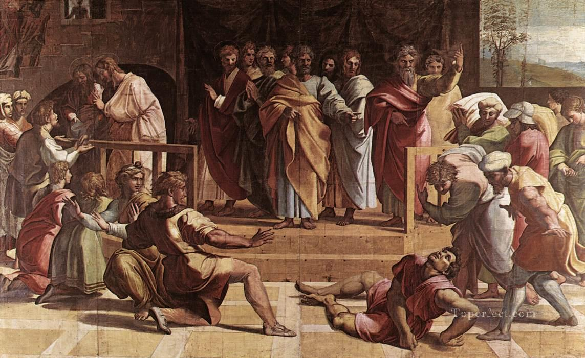 The Death of Ananias Renaissance master Raphael Oil Paintings