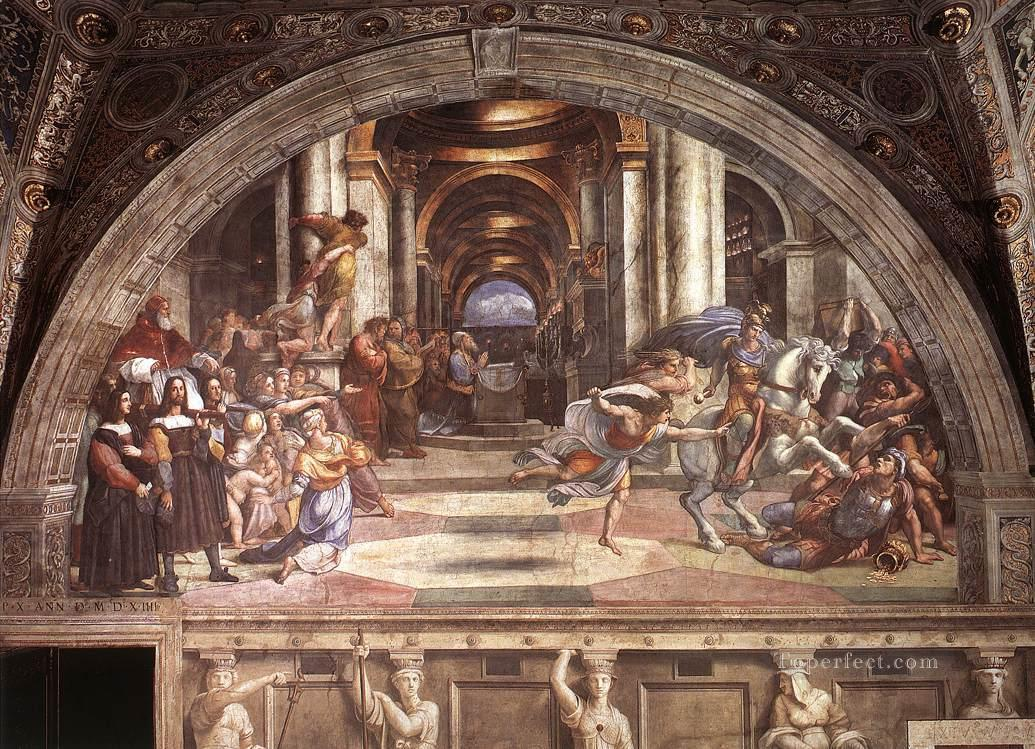 The Expulsion of Heliodorus from the Temple Renaissance master Raphael Oil Paintings
