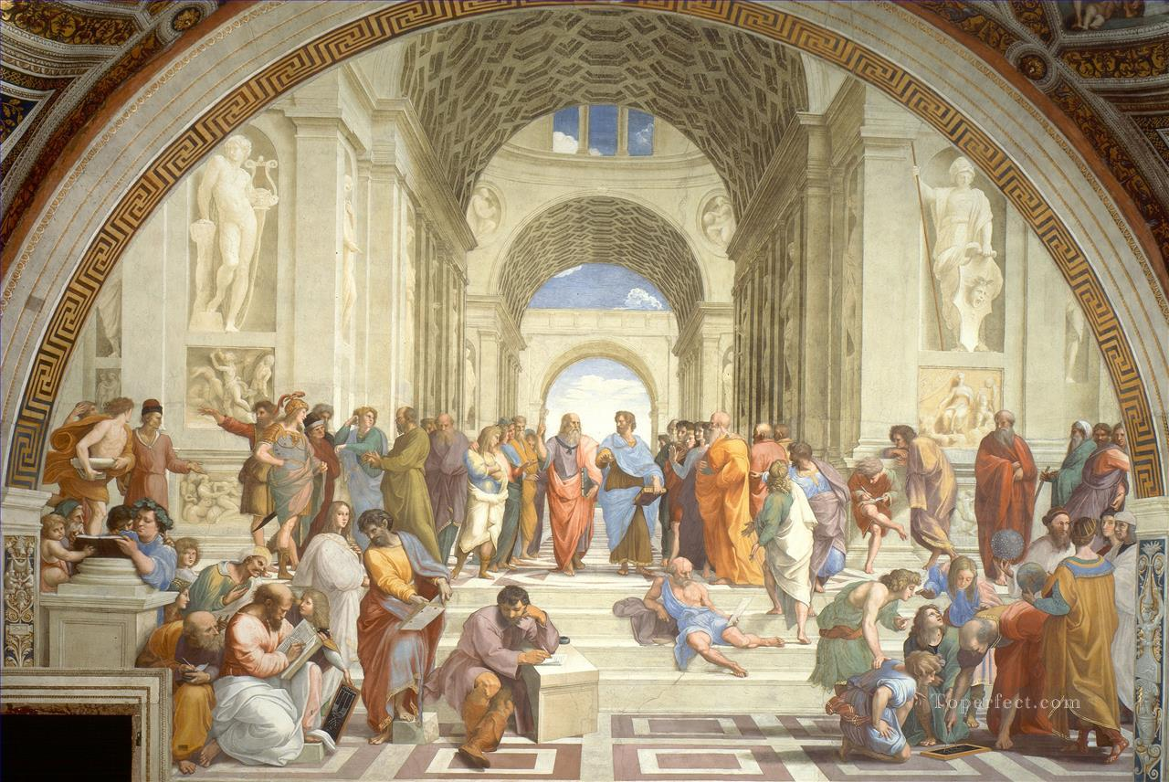 The School of Athens Renaissance master Raphael Oil Paintings