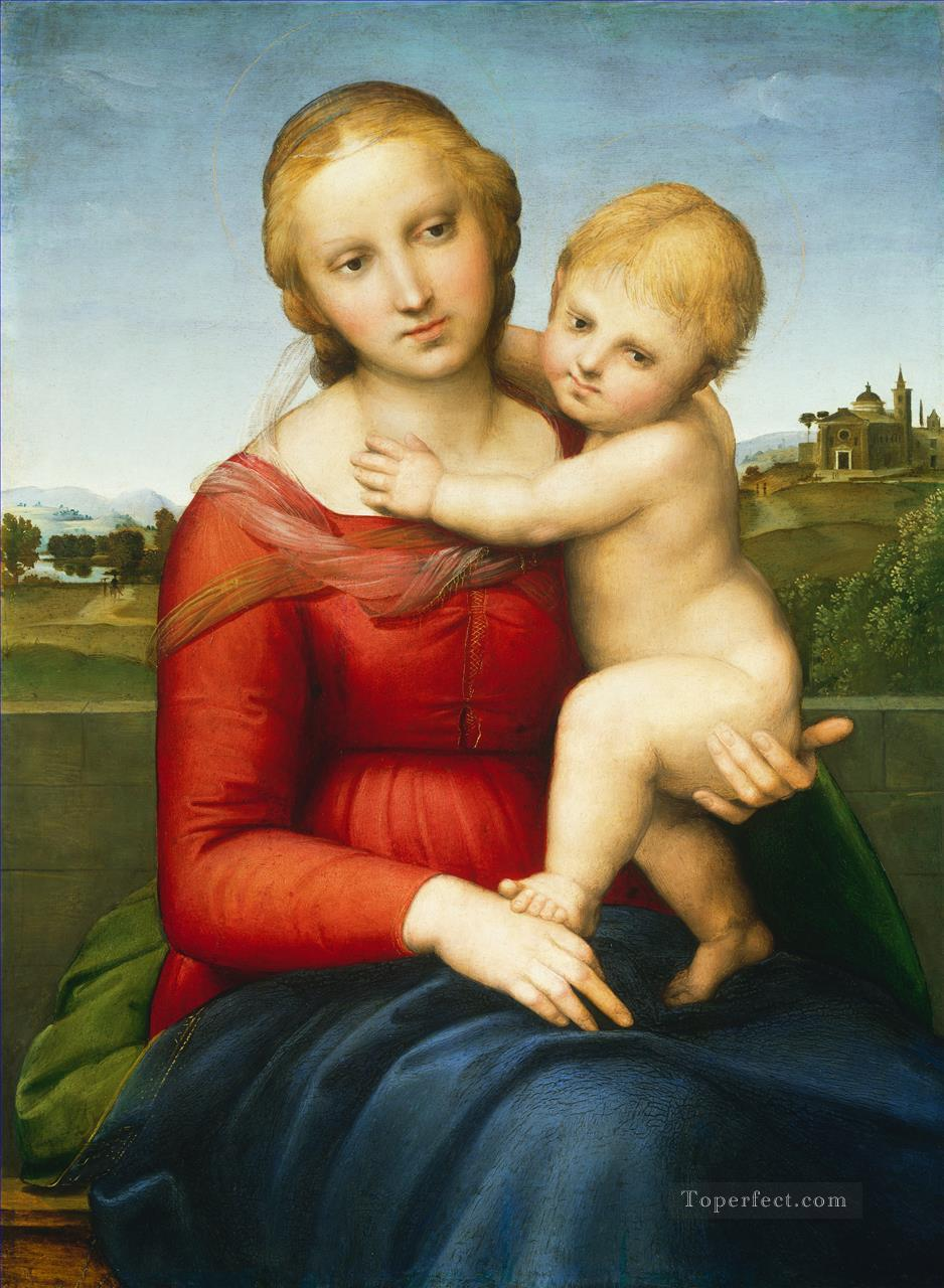 Madonna and Child The Small Cowper Madonna Renaissance master Raphael Oil Paintings