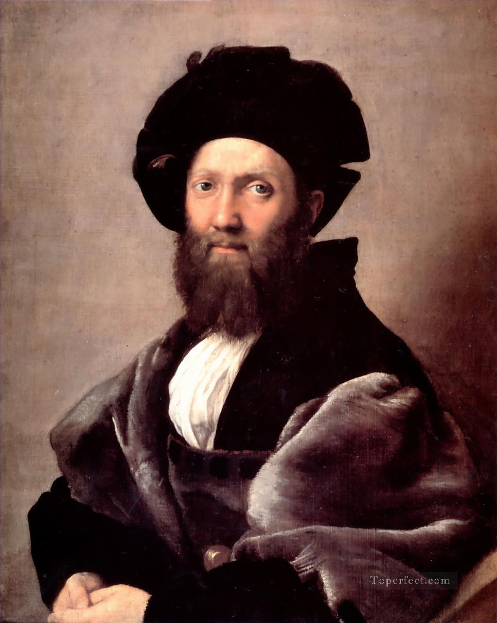 Portrait of Baldassare Castiglione Renaissance master Raphael Oil Paintings