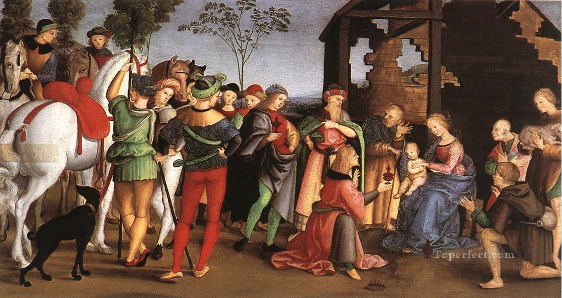 The Adoration of the Magi Oddi altar Renaissance master Raphael Oil Paintings