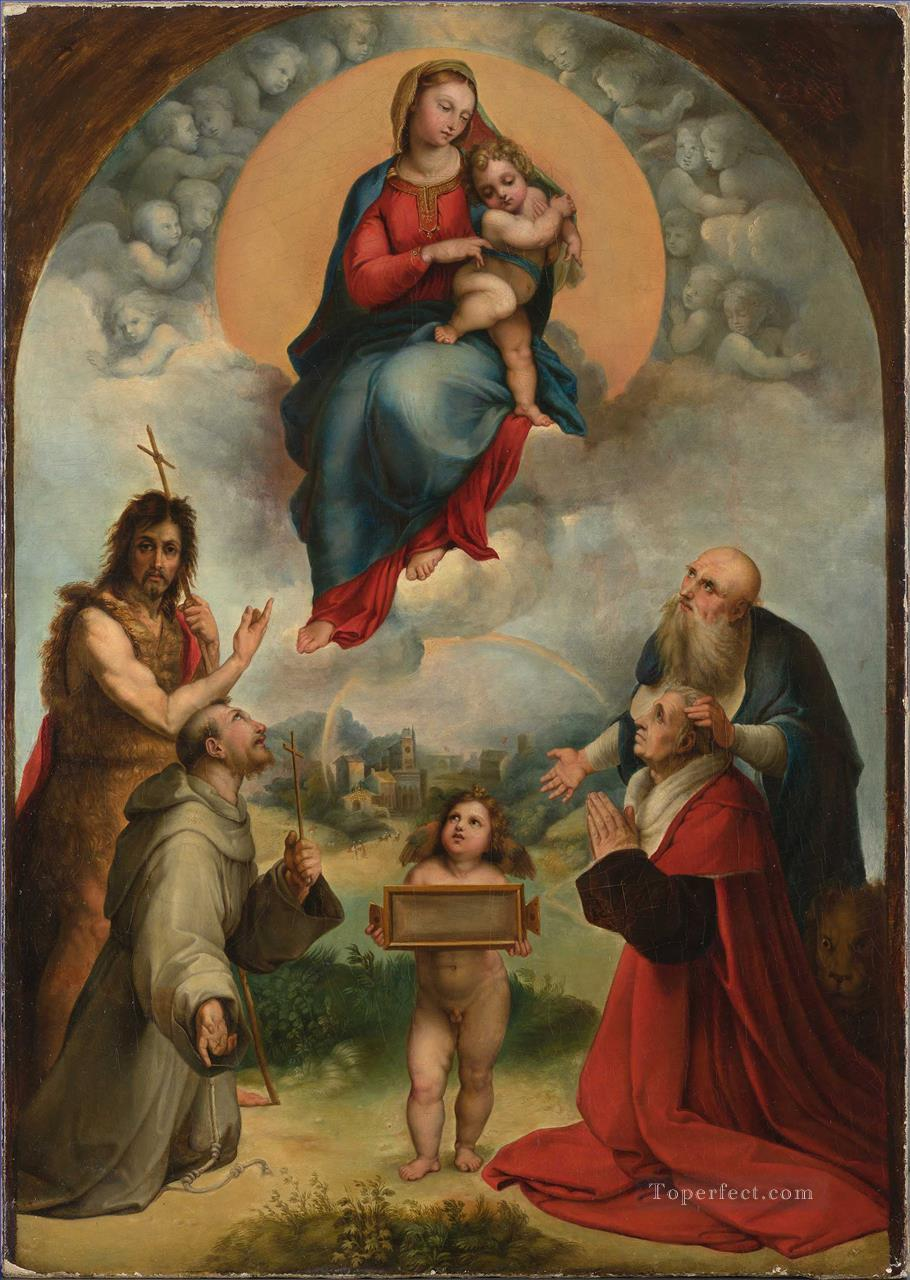 The Madonna of Foligno Renaissance master Raphael Oil Paintings