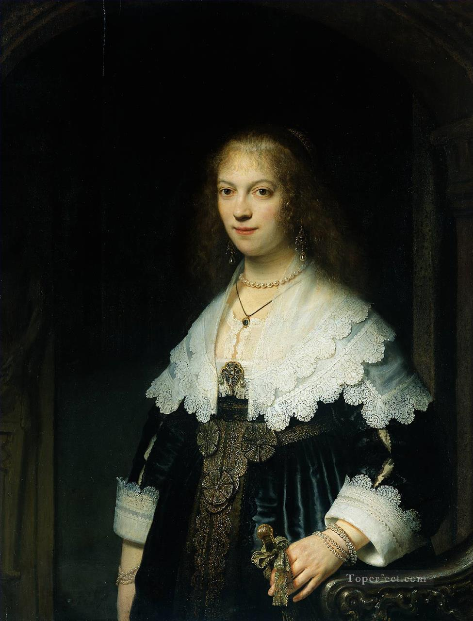 Portrait of Maria Trip 1639 Rembrandt Oil Paintings