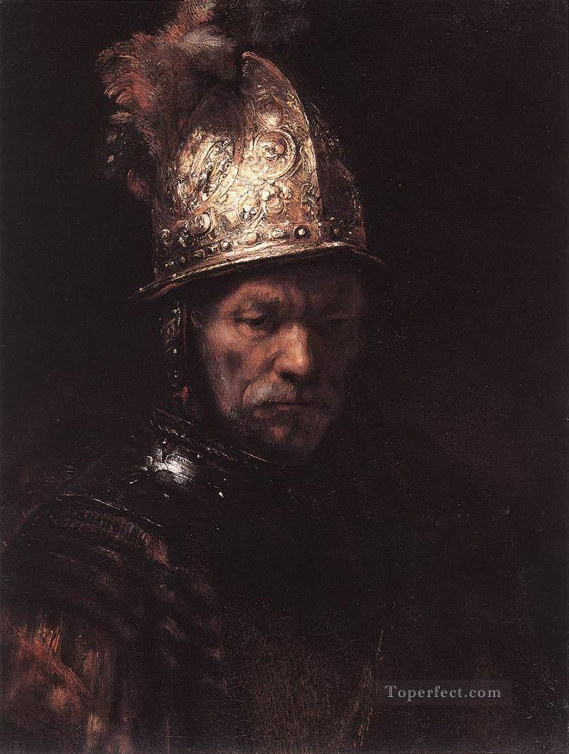Portrait of a Man with a Golden Helmet Rembrandt Oil Paintings