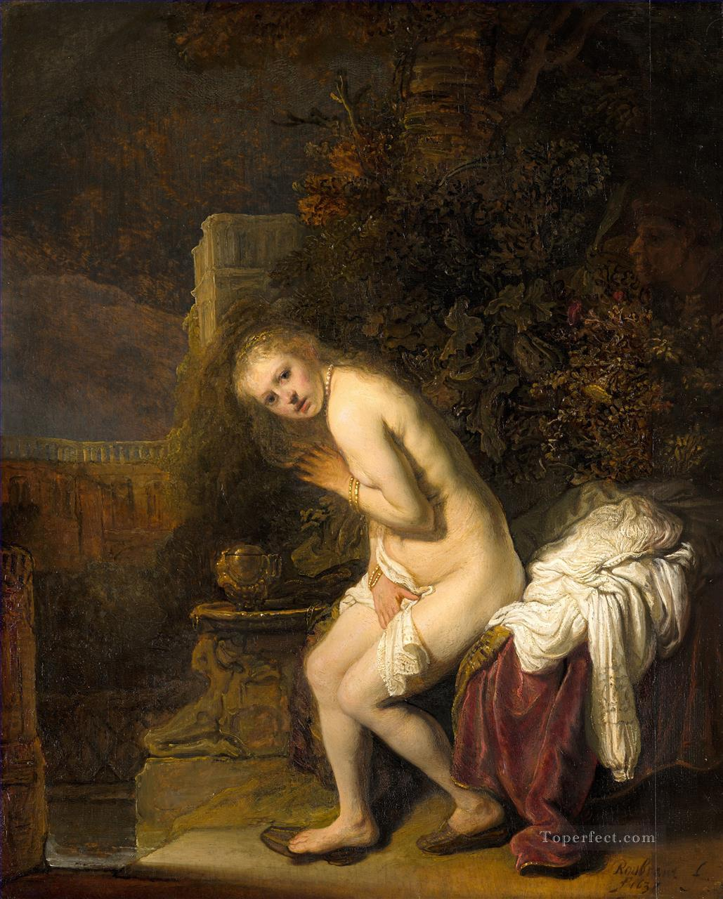 Susanna And The Elders Rembrandt Oil Paintings