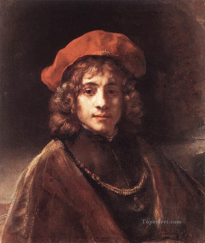 The Artists Son Titus Rembrandt Oil Paintings