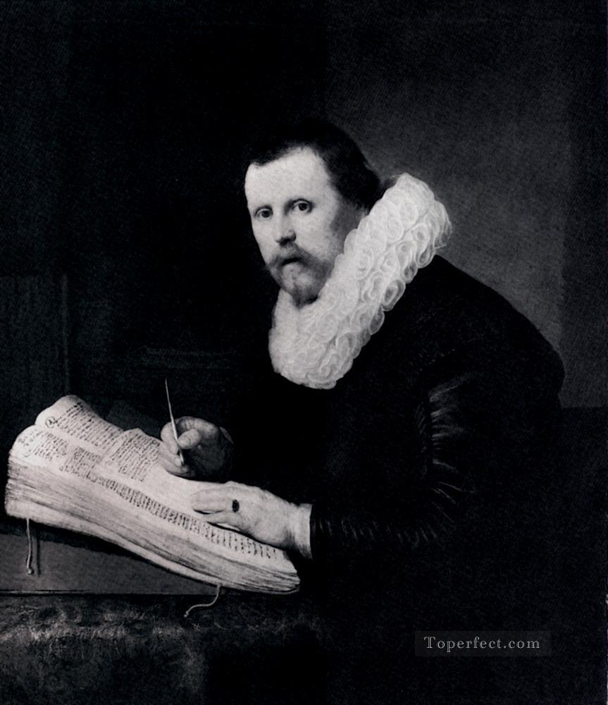 Young Man At His Desk portrait Rembrandt Oil Paintings