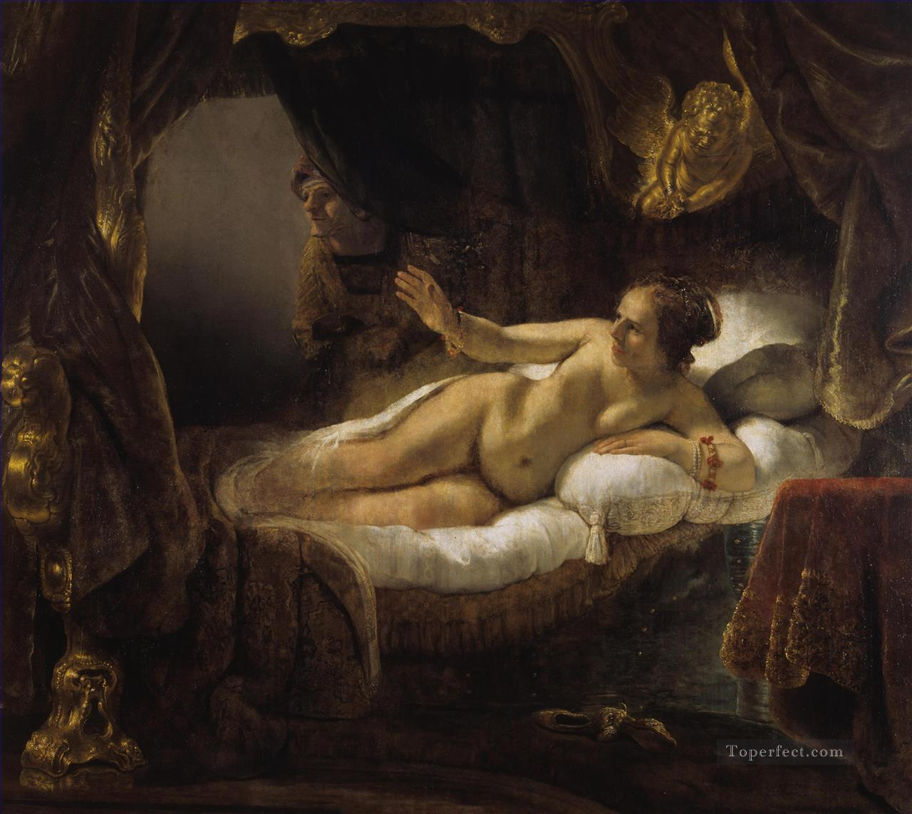 Danae Rembrandt Oil Paintings
