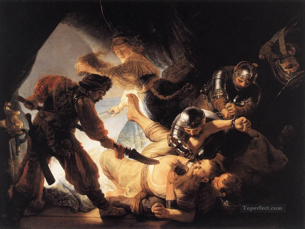 The Blinding of Samson Rembrandt Oil Paintings
