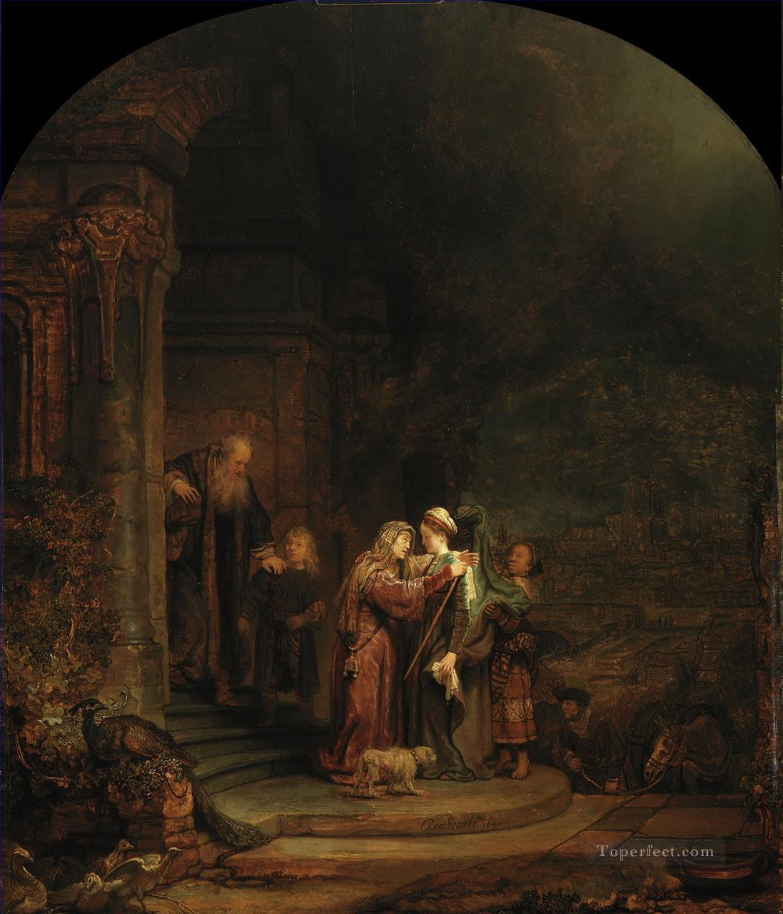 The Visitation Rembrandt Oil Paintings