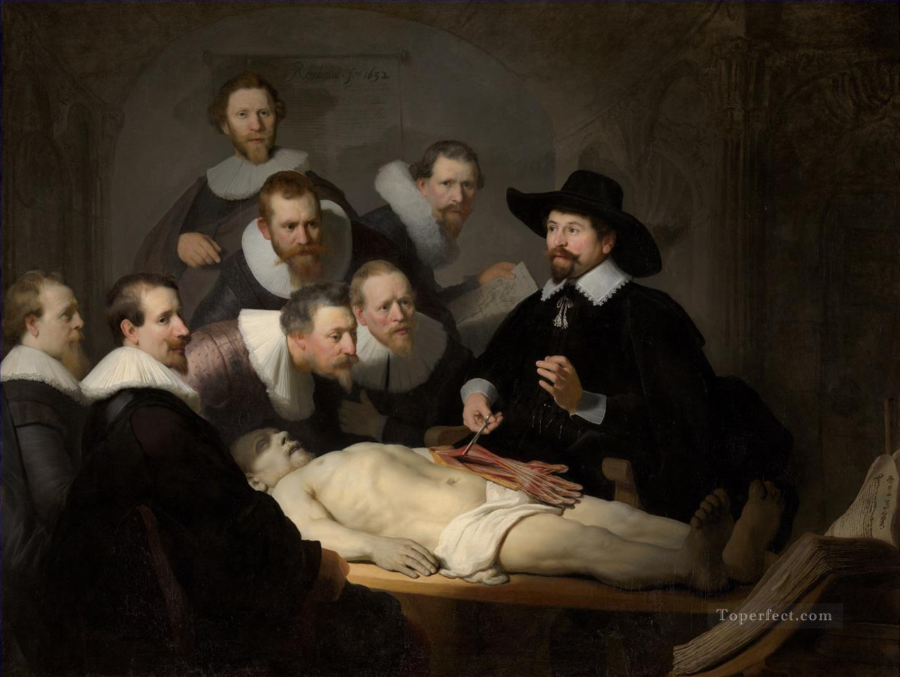 The Anatomy Lecture of Dr Nicolaes Tulp Rembrandt Oil Paintings