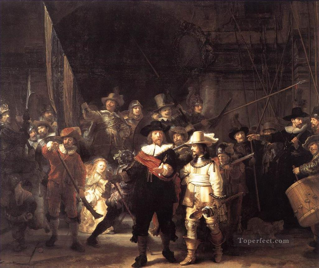 The Company of Frans Banning Cocq and Willem van Ruytenburch known as theNight Watch Rembrandt Oil Paintings