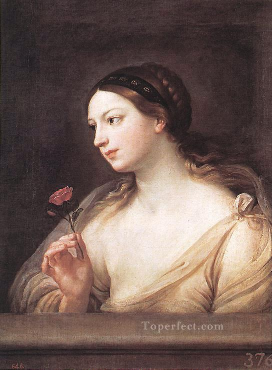 Girl with a Rose Baroque Guido Reni Oil Paintings