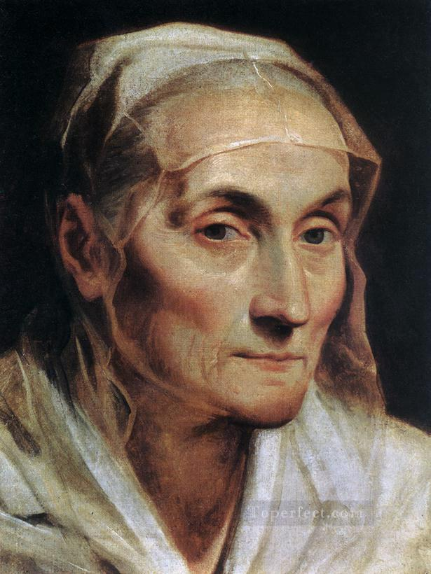 Portrait of an Old Woman Baroque Guido Reni Oil Paintings