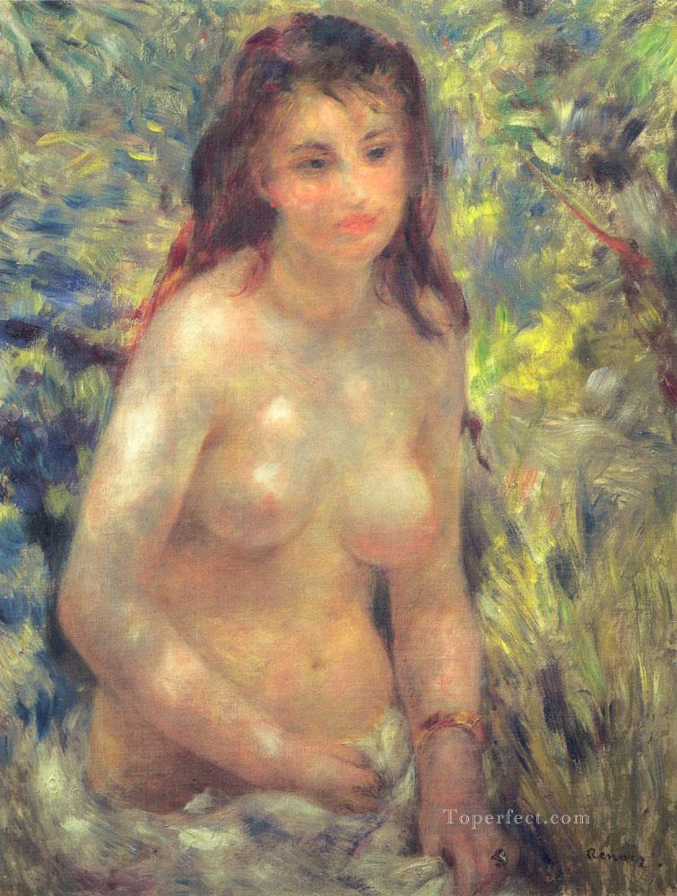 Study Torso Sunlight Effect Pierre Auguste Renoir Oil Paintings