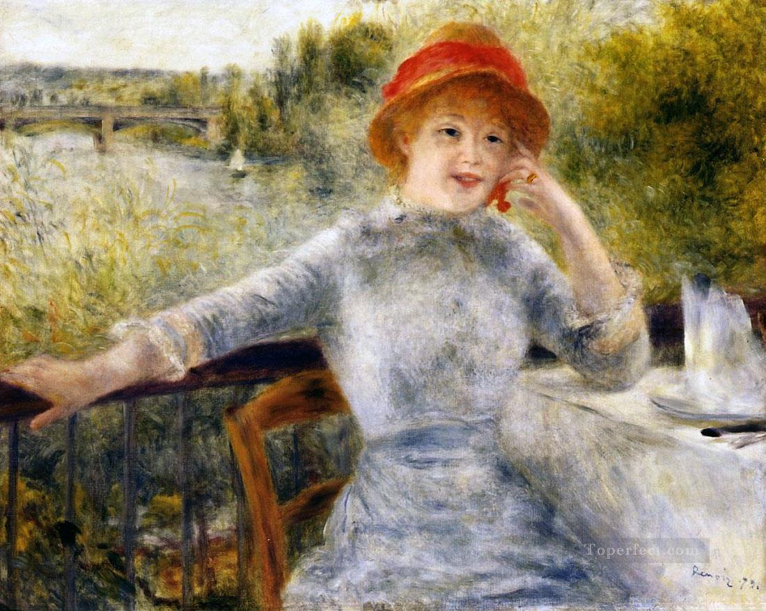 Alphonsine fournaise pierre auguste renoir painting in oil for Paintings by renoir