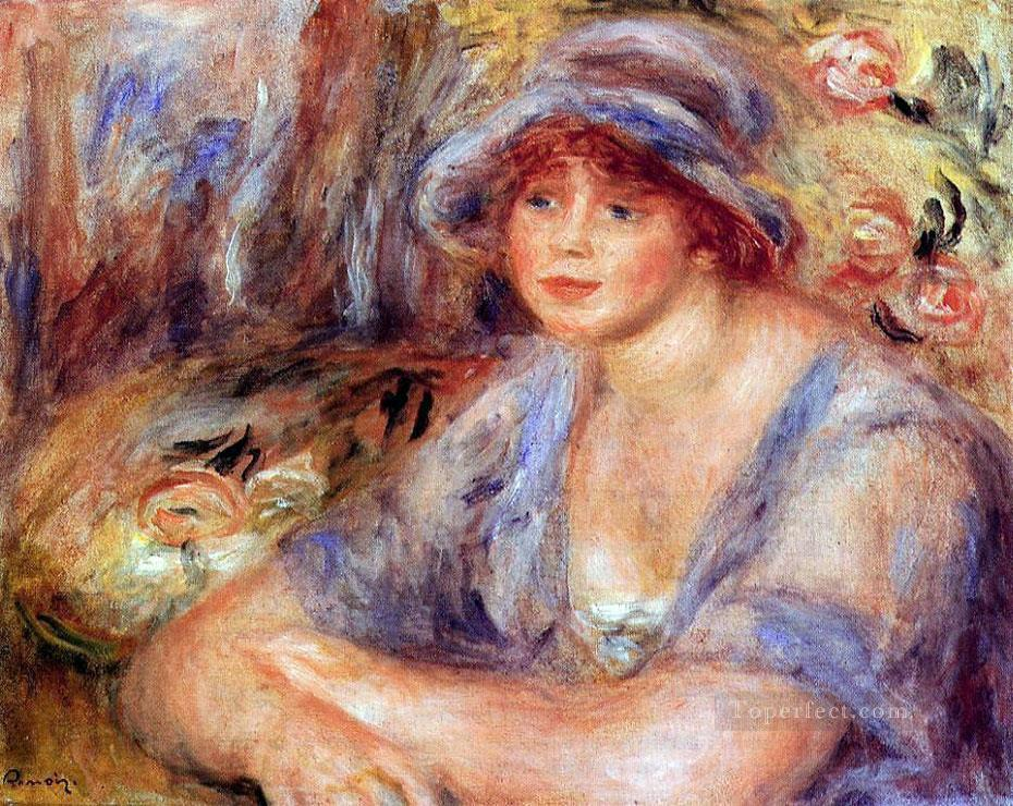andree in blue Pierre Auguste Renoir Oil Paintings