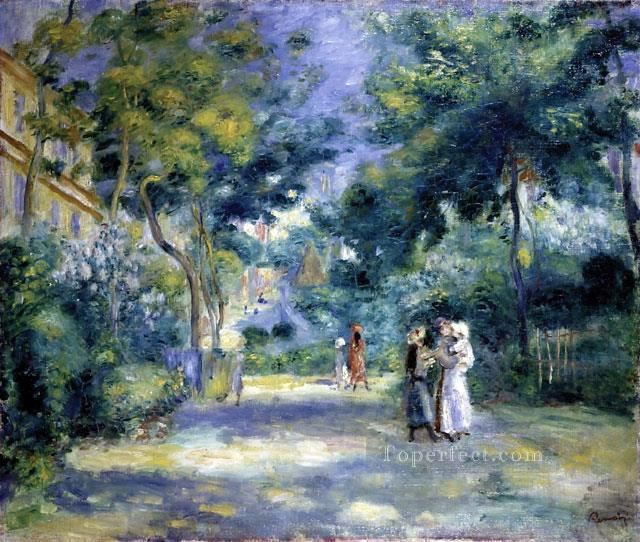 the garden in montmartre Pierre Auguste Renoir Oil Paintings