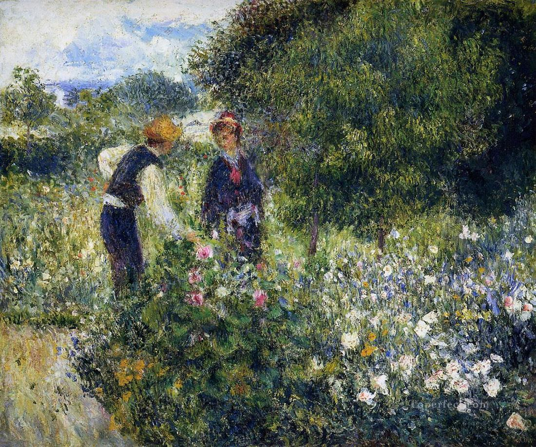 enoir picking flowers Pierre Auguste Renoir Oil Paintings