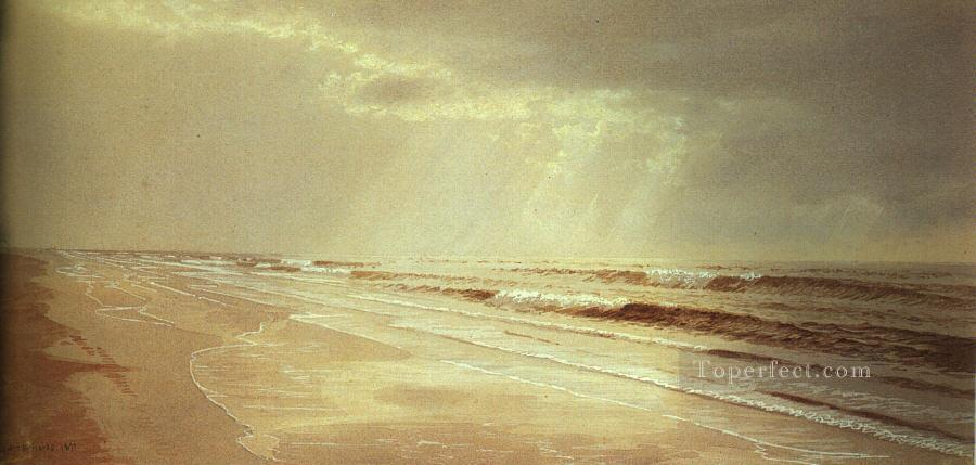 Beach with Sun Drawing Water scenery William Trost Richards Oil Paintings