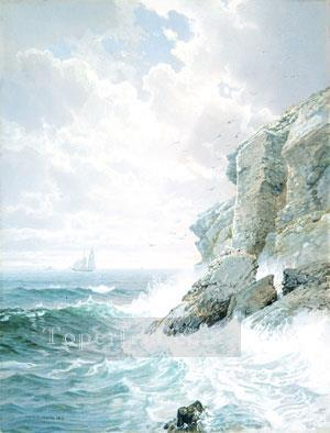 Purgatory Cliff scenery William Trost Richards Oil Paintings