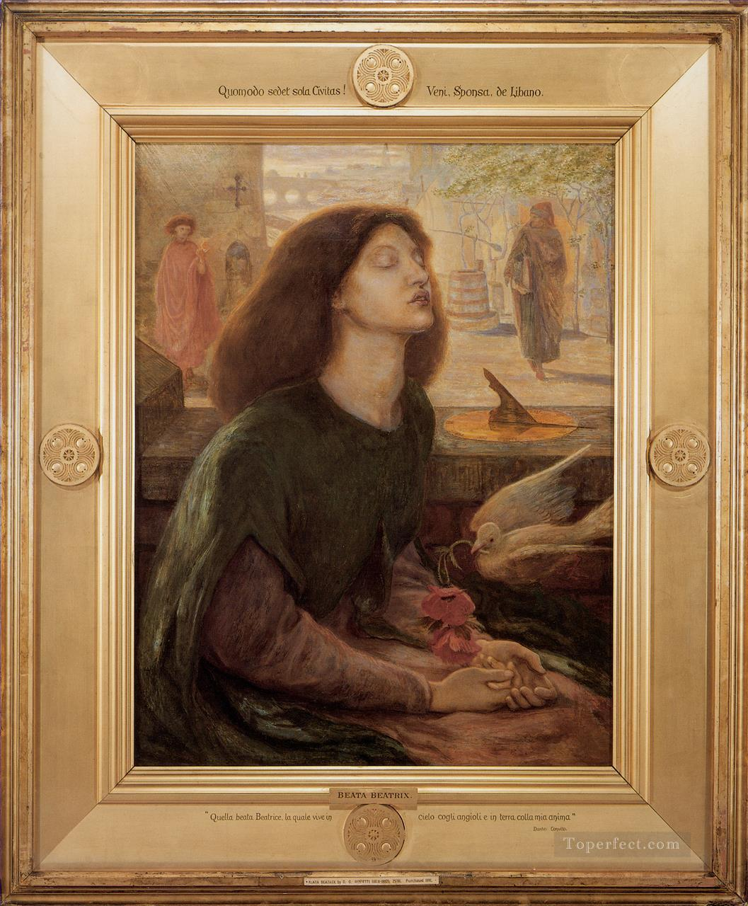 Beata Beatrix 1877 Pre Raphaelite Brotherhood Dante Gabriel Rossetti Oil Paintings