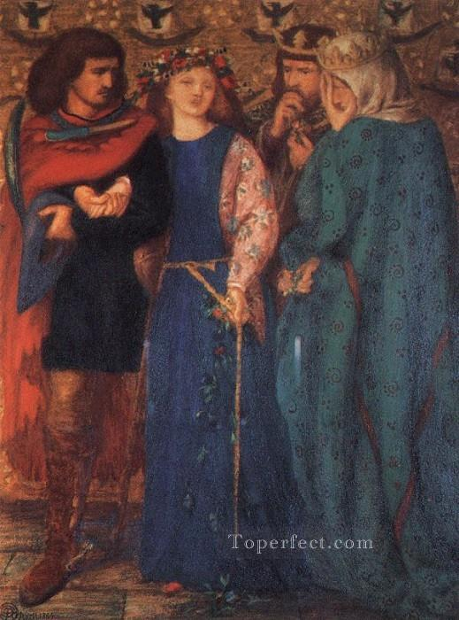 The First Madness of Ophelia Pre Raphaelite Brotherhood Dante Gabriel Rossetti Oil Paintings
