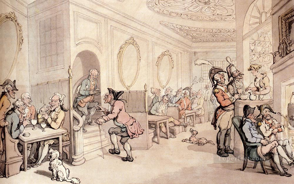Strong Waters At Bath caricature Thomas Rowlandson Oil Paintings