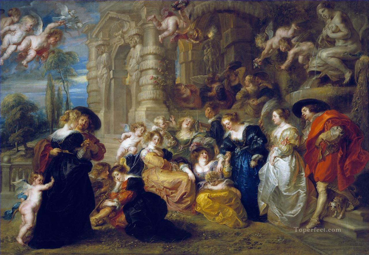 The Garden Of Love Baroque Peter Paul Rubens Oil Paintings