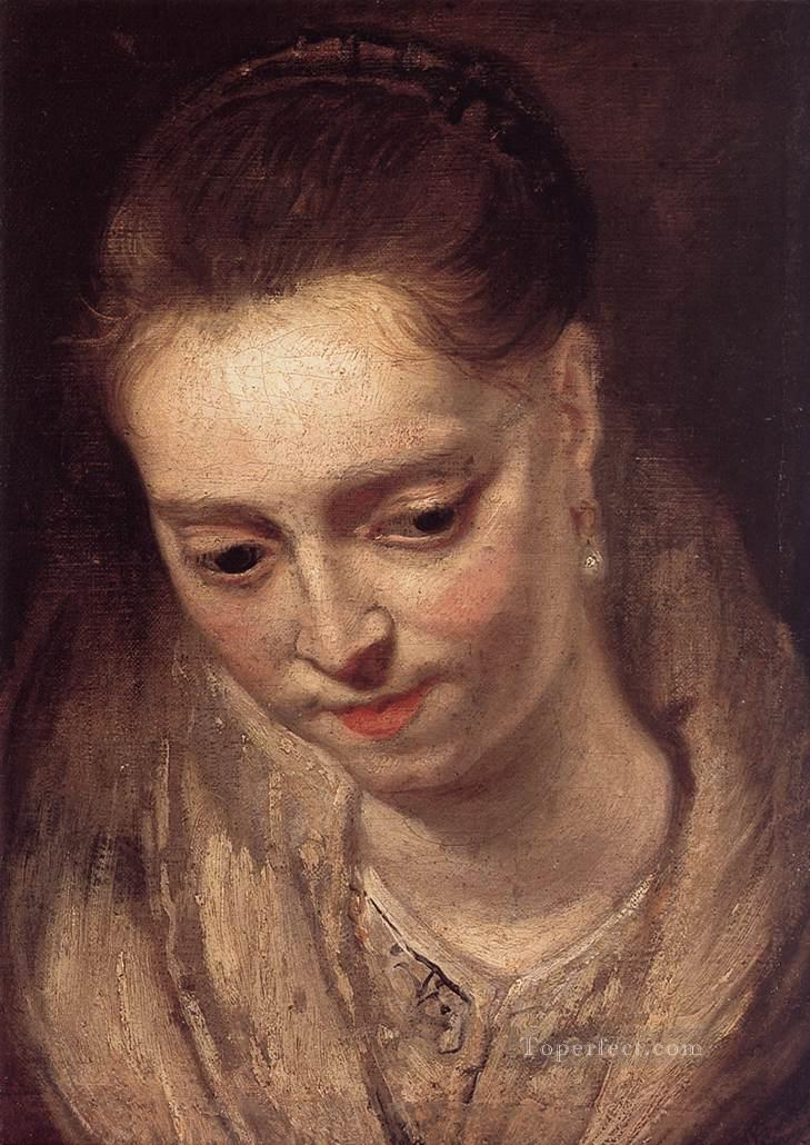 Portrait of a Woman Baroque Peter Paul Rubens Oil Paintings