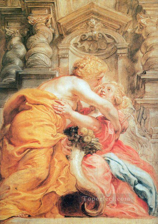 peace and abundance Peter Paul Rubens Oil Paintings