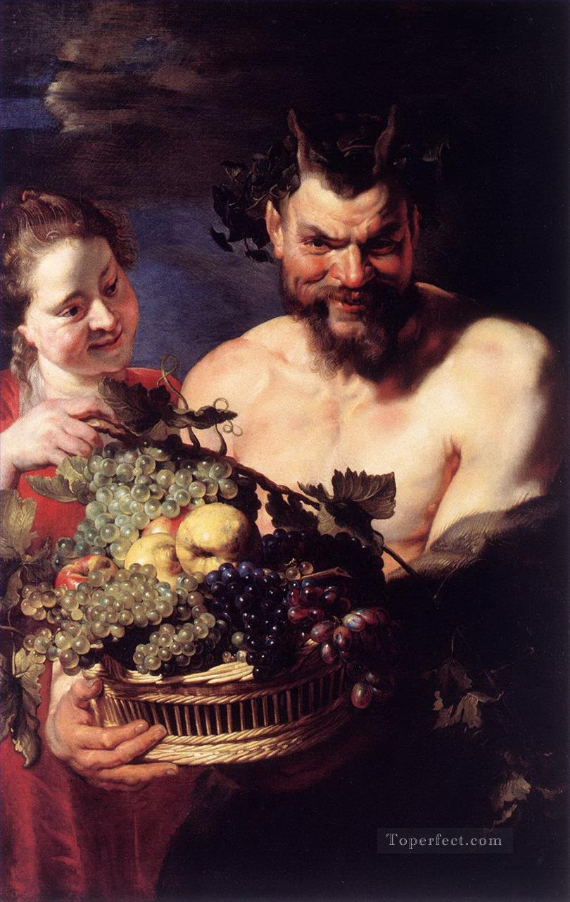 satyr and girl Peter Paul Rubens Oil Paintings