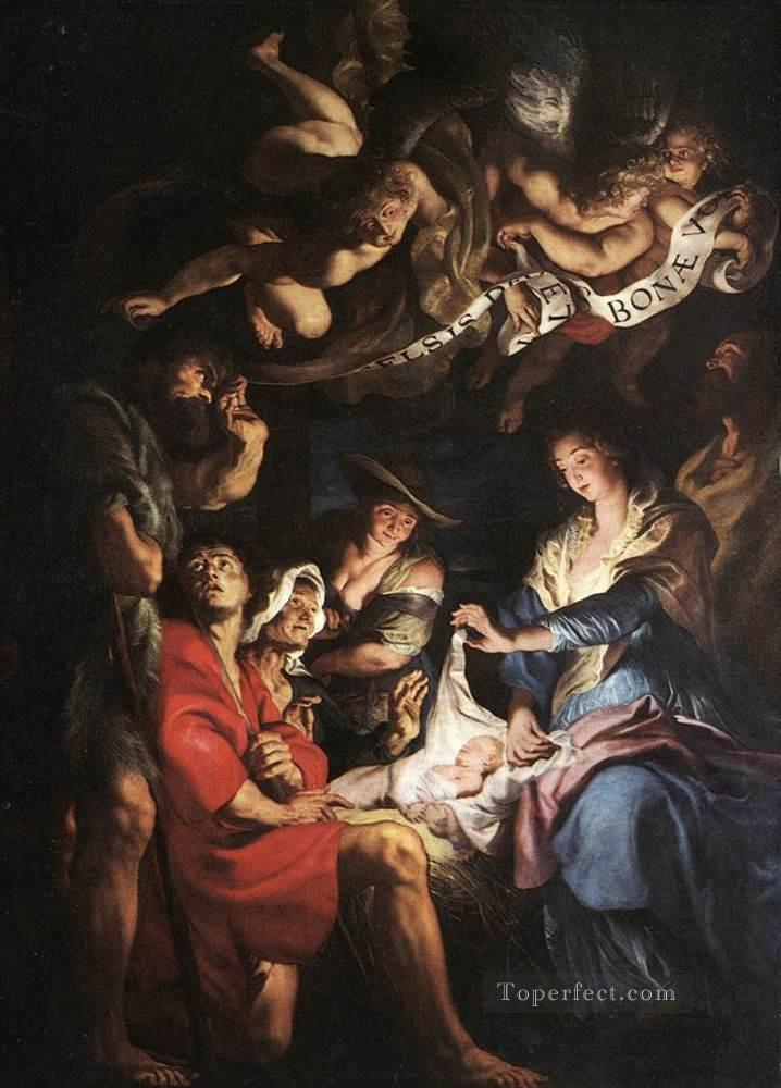 Adoration of the Shepherds Baroque Peter Paul Rubens Oil Paintings
